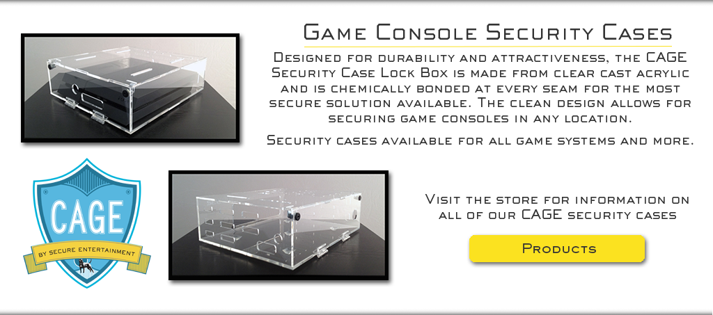 Game console security cases slider